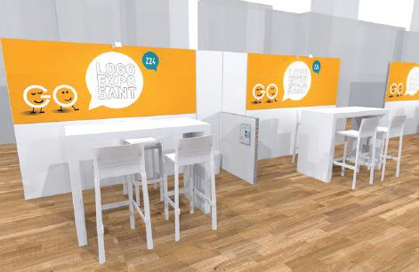 STAND 6m2 personnalisable accès Wifi électricité et espace networking interview sur le plateau WebTV - Go numérique